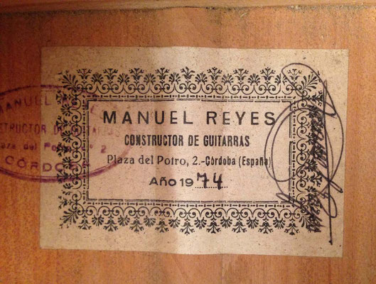 Manuel Reyes 1974 - Guitar 4 - Photo 3
