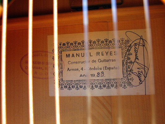 Manuel Reyes 1983 - Guitar 3 - Photo 11