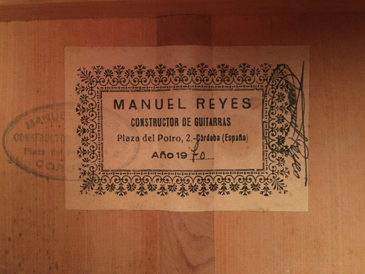 Manuel Reyes 1970 - Guitar 4 - Photo 30