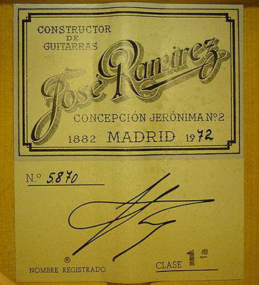 Jose Ramirez 1972 - Guitar 2 - Photo 5