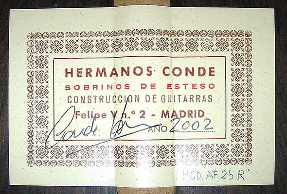 Hermanos Conde 2002 - Guitar 4 - Photo 6