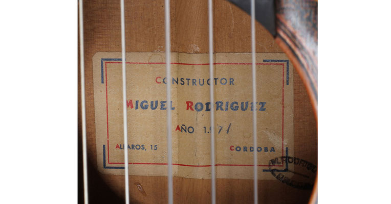 Miguel Rodriguez 1971 - Guitar 1 - Photo 9