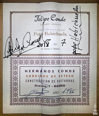 Hermanos Conde - Pepe Habichuela Re-Edition 1986 - Guitar 6 - Photo 3