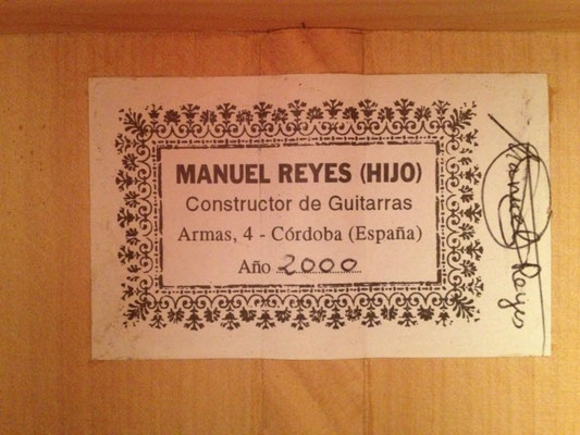 Manuel Reyes Hijo 2000 - Guitar 1 - Photo 3