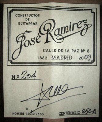 Jose Ramirez 2009 - Guitar 1 - Photo 7