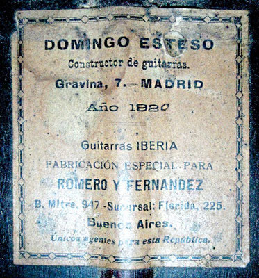 Domingo Esteso 1920 - Guitar 2 - Photo 6