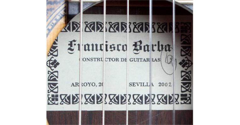 Francisco Barba 2002 - Guitar 2 - Photo 5