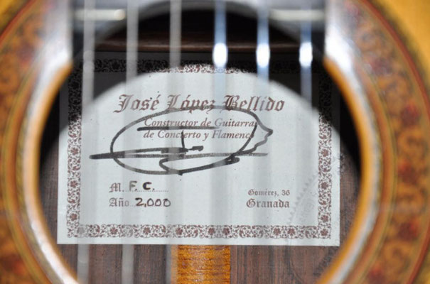 Jose Lopez Bellido 2000 - Guitar 3 - Photo 1