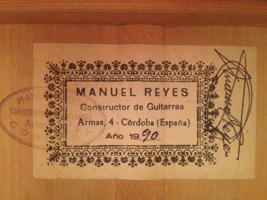 Manuel Reyes 1990 - Guitar 1 - Photo 3