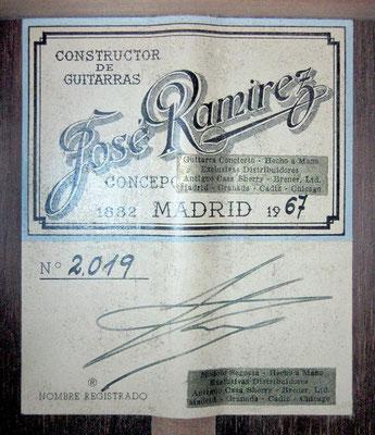 Jose Ramirez 1967 - Guitar 3 - Photo 3
