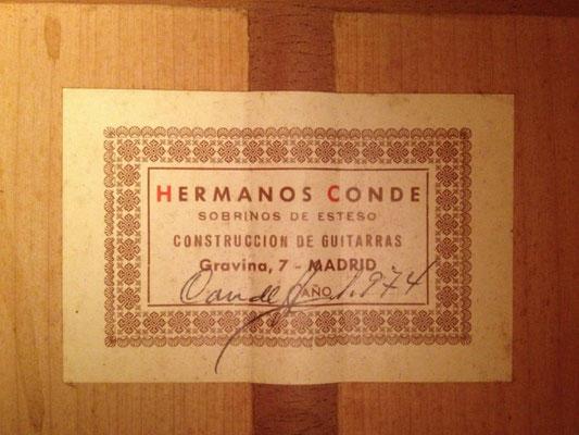 Hermanos Conde 1974 - Guitar 2 - Photo 8