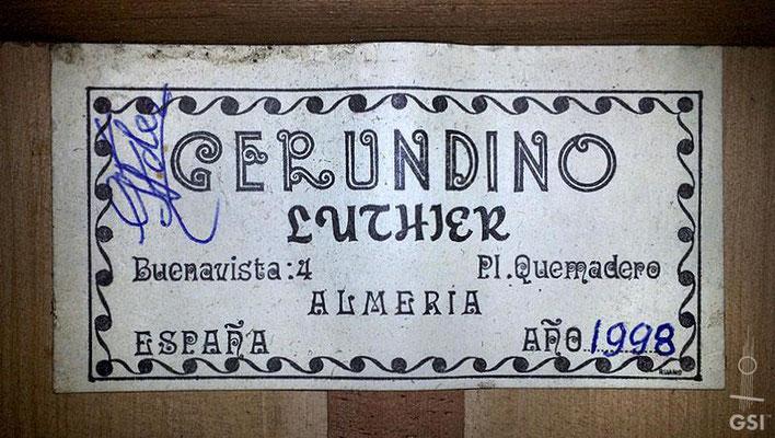 Gerundino Fernandez 1998 - Guitar 1 - Photo 11