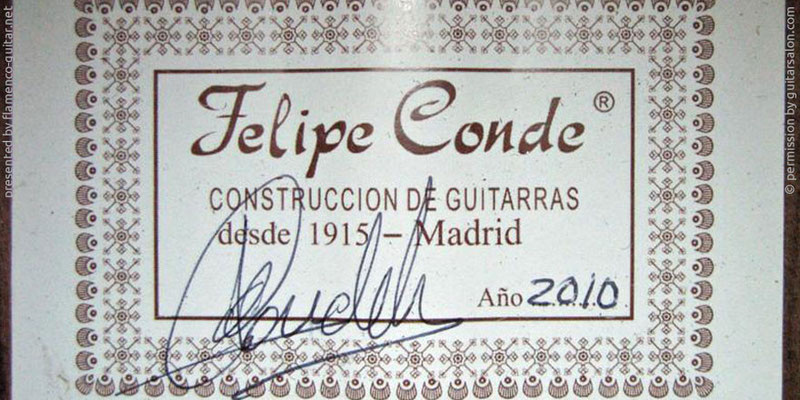 HERMANOS CONDE - FELIPE CONDE 2010 - LABEL - ETIKETT - ETIQUETA