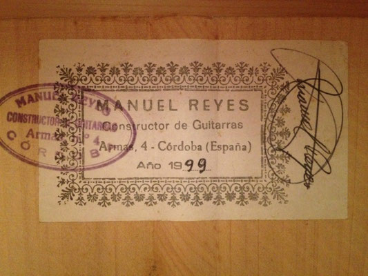 Manuel Reyes 1999 - Guitar 1 - Photo 2