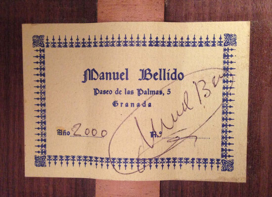 Manuel Bellido 2000 - Guitar 4 - Photo 7