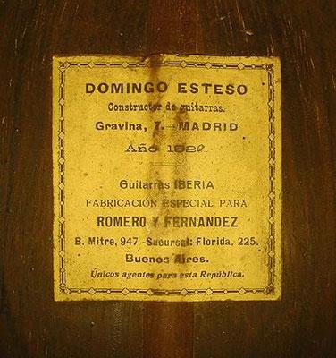 Domingo Esteso 1920 - Guitar 3 - Photo 4