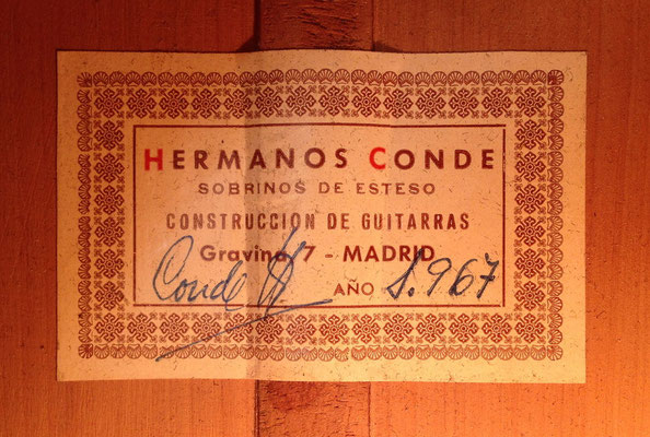 Hermanos Conde - 1967 - Guitar 1 - Photo 11