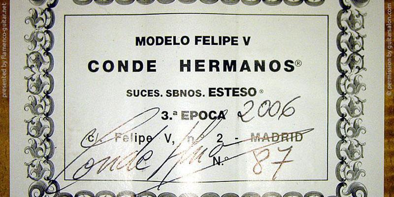 HERMANOS CONDE - SOBRINOS DE ESTESO 2006 - LABEL - ETIKETT - ETIQUETA