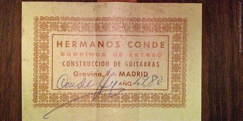 HERMANOS CONDE - SOBRINOS DE ESTESO 1980 - LABEL - ETIKETT - ETIQUETA