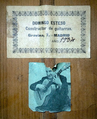 Domingo Esteso 1932 - Guitar 3 - Photo 3