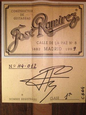 Jose Ramirez 1999- Guitar 1 - Photo 12