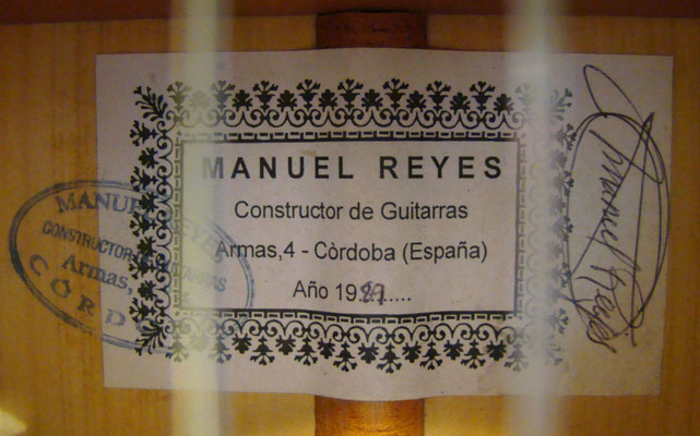 Manuel Reyes 1989 - Guitar 6 - Photo 4