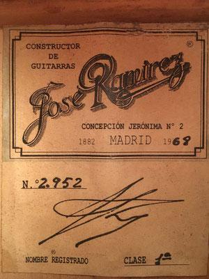 Jose Ramirez 1968 - Guitar 5 - Photo 3