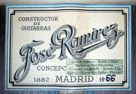 Jose Ramirez 1966 - Guitar 6 - Photo 1