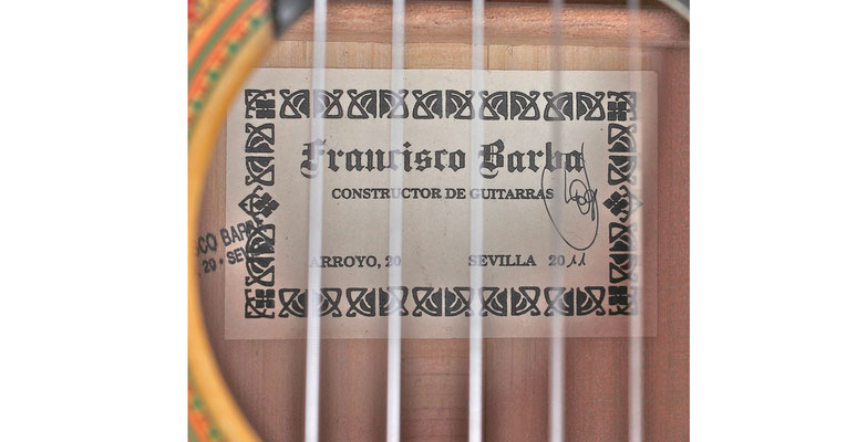 Francisco Barba 2011 - Guitar 2 - Photo 5
