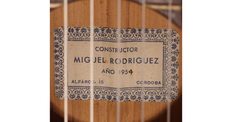 Miguel Rodriguez 1954 - Guitar 1 - Photo 6