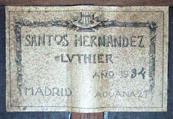 Santos Hernandez 1934 - Guitar 1 - Photo 9