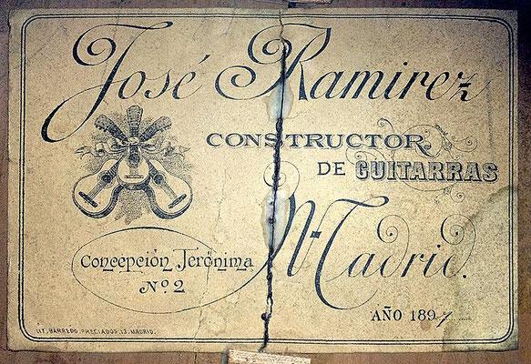 Jose Ramirez 1897 - Guitar 1 - Photo 3