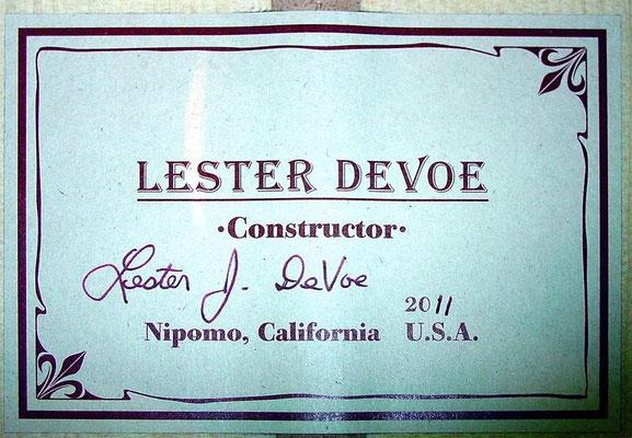 Lester Devoe 2011 - Guitar 2 - Photo 6