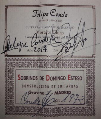 Sobrinos de Esteso Moraito Re-Edition 1972 - Guitar 7 - Photo 17