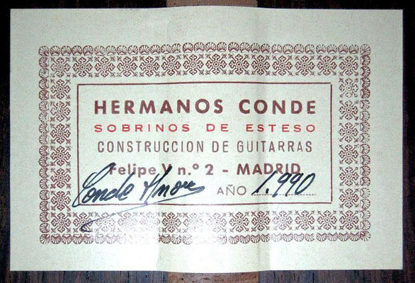 Hermanos Conde - Sobrinos de Esteso - 1990 - Guitar 3 - Photo 12