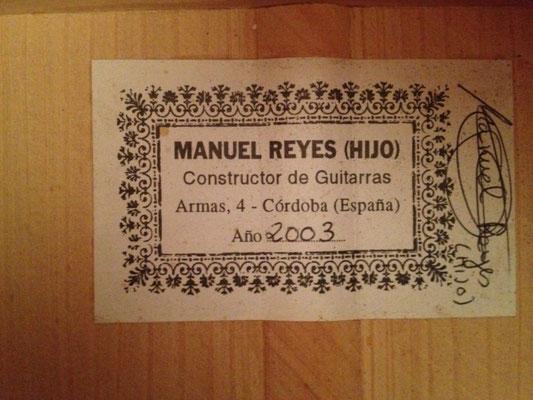 Manuel Reyes Hijo 2003 - Guitar 2 - Photo 15
