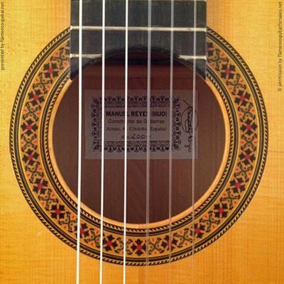 MANUEL REYES HIJO | GUITAR  GITARRE | 2000  | ROSETTES ROSETTEN