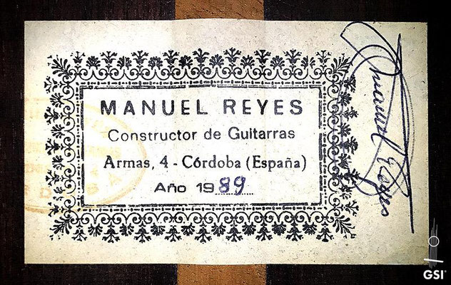 Manuel Reyes 1989 - Guitar 1 - Photo 3