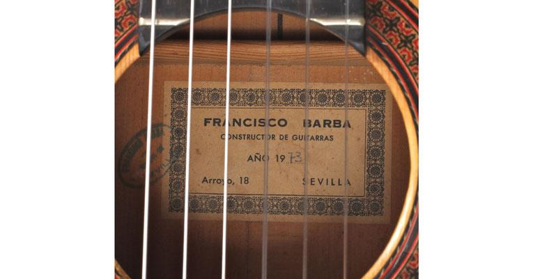 Francisco Barba 1973 - Guitar 1 - Photo 9