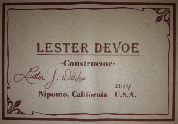 Lester Devoe 2014 - Guitar 3 - Photo 3