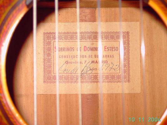 SOBRINOS DE DOMINGO ESTESO 1972 - Guitar 2 - Photo 1