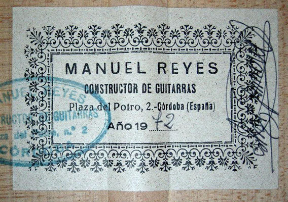 Manuel Reyes 1972 - Guitar 1 - Photo 6