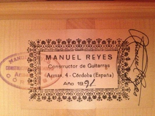 Manuel Reyes 1991 - Guitar 2 - Photo 2
