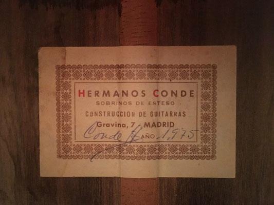 Hermanos Conde 1975 - Guitar 4 - Photo 4