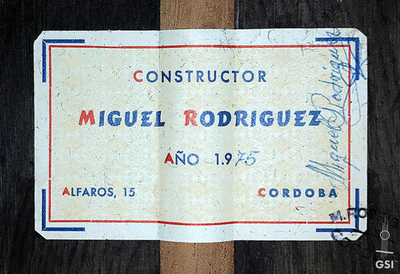 Miguel Rodriguez 1975 - Guitar 3 - Photo 10