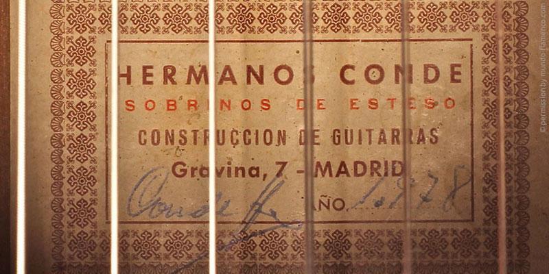 HERMANOS CONDE - SOBRINOS DE ESTESO 1978 - LABEL - ETIKETT - ETIQUETA