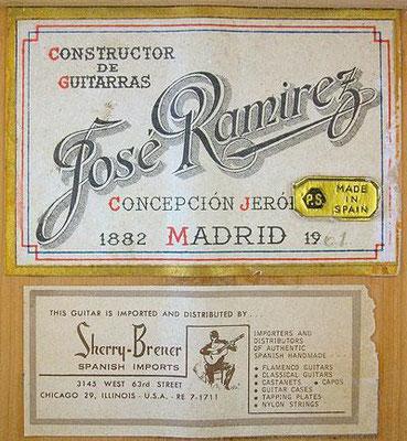 Jose Ramirez 1961 - Guitar 1 - Photo 1