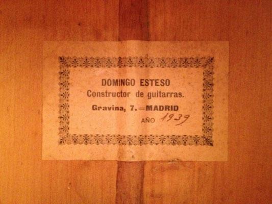 Domingo Esteso 1939 - Guitar 1 - Photo 2