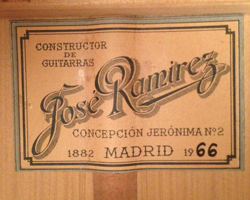 Jose Ramirez 1966 - Guitar 4 - Photo 5