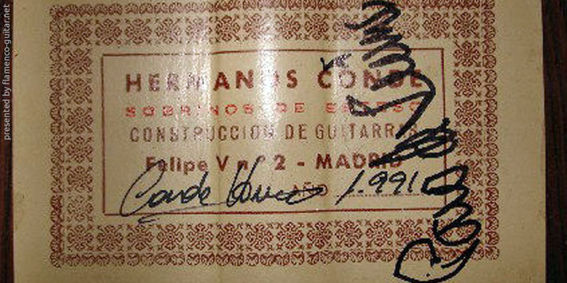 HERMANOS CONDE - SOBRINOS DE ESTESO 1991 - LABEL - ETIKETT - ETIQUETA